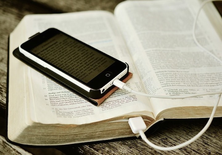 Cell Phone and Bible - Documents and Downloads