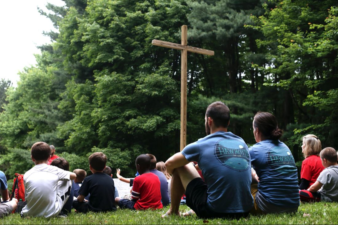 Staff and Camper at Vespers